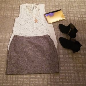 Madewell purchased sparkly mini-skirt